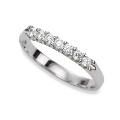 Ze™ 14K White Gold Diamond Prong Set Size 6 Band