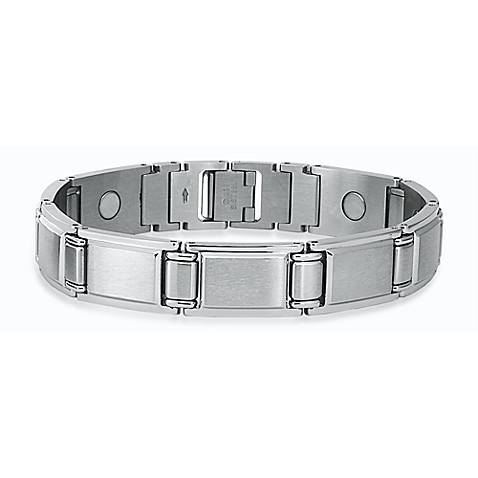 STEL™ 8.5-Inch Stainless Steel Magnetic Therapy Bracelet