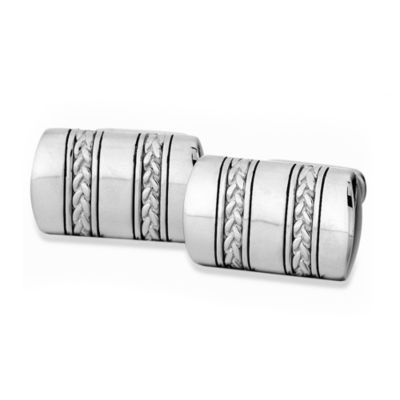 J. Goodman™ Sterling Silver Cufflinks w/Oxidized Braid