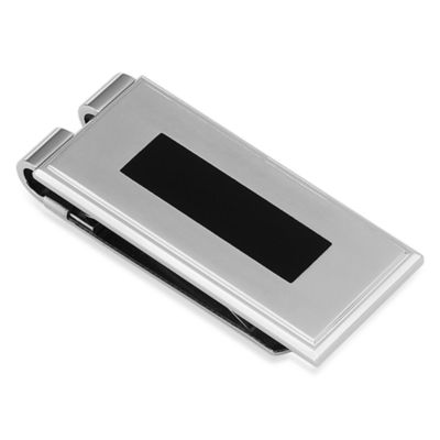 STEL™ Stainless Steel Black Enamel Money Clip