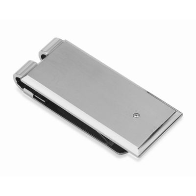 STEL™ Stainless Steel .03 cttw Diamond Money Clip