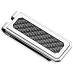 STEL™ Stainless Steel Carbon Fiber Inlay Money Clip