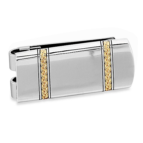 J. Goodman™ Sterling Silver/18K Yellow Gold Money Clip