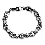 STEL™ High Polished Bike Link Tungsten 8.5-Inch Bracelet