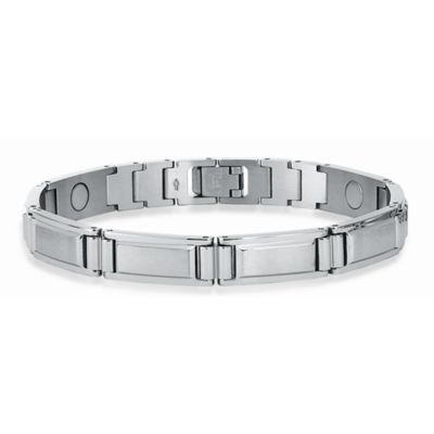 STEL™ 8 3/8-Inch Stainless Steel Magnetic Therapy Bracelet