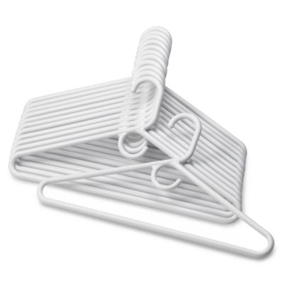 12-Pack Heavyweight Hangers in White