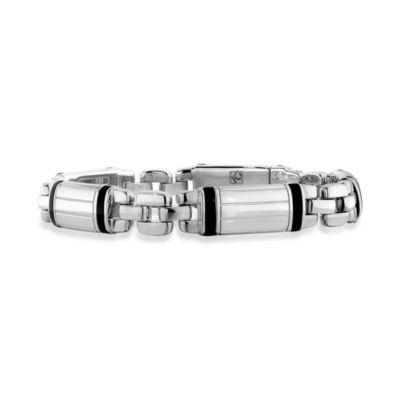 J. Goodman™ Sterling Silver Bracelet w/Onyx Accent in 8 1/2-Inch