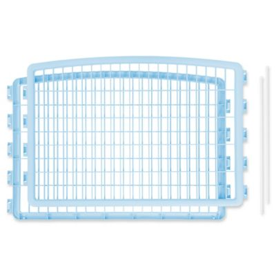 IRIS USA 2-Piece Add-On Kit for 4-Panel Indoor/Outdoor Pet Pen in Blue