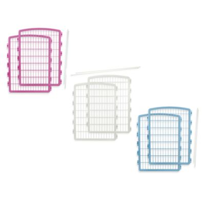 IRIS USA 2-Piece Add-On Kit for 8-Panel Indoor/Outdoor Pet Pen in Blue