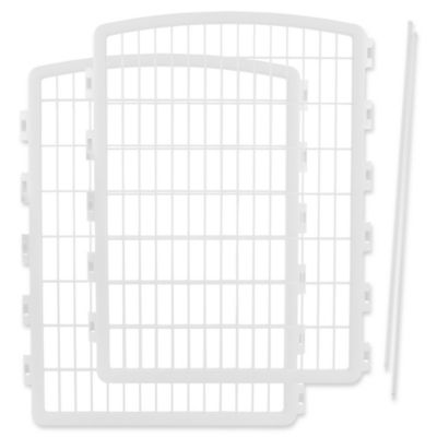 IRIS USA 2-Piece Add-On Kit for 8-Panel Indoor/Outdoor Pet Pen in White