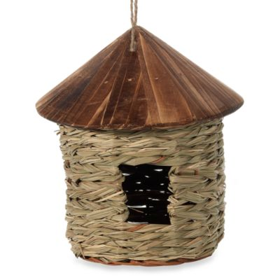 Grass TwineIndoor/Outdoor Hanging Bird Feeder House