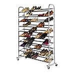 60-Pair Chrome Rolling Shoe Tower