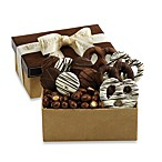 Chocolate Favorites Faux Suede Desktop Gift Box