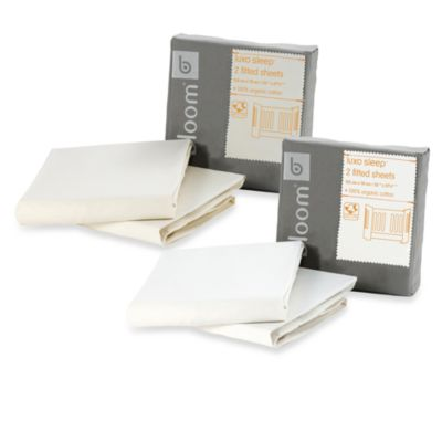 bloom® luxo sleep™ Fitted Sheets in Natural (Set of 2)