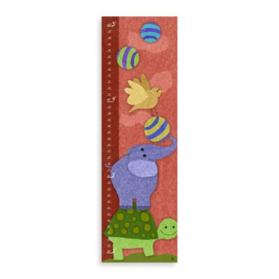 Green Leaf Art Elephant & Turtle Growth Chart