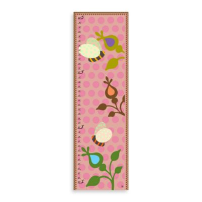 Green Leaf Art Springs & Bees Growth Chart