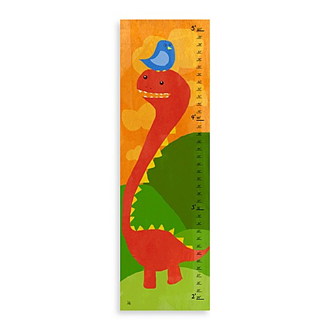 Green Leaf Art Little Dino Growth Chart