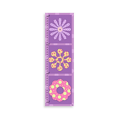 Green Leaf Art Flowers on Square Growth Chart