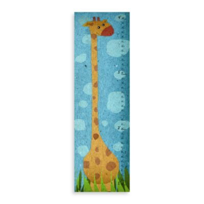 Green Leaf Art Large Giraffe Growth Chart