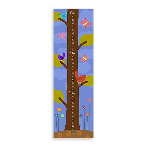 Green Leaf Art On The Tree Growth Chart