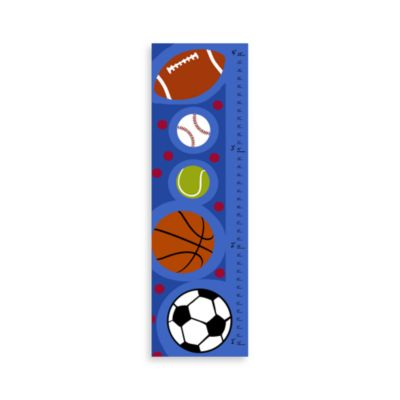 Green Leaf Art Sports Balls Growth Chart