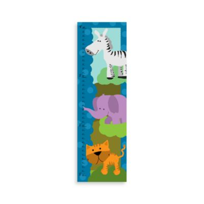 Green Leaf Art Jungle Animals I Growth Chart