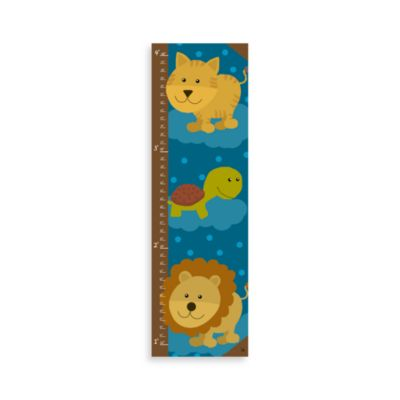 Green Leaf Art Jungle Animals II Growth Chart