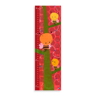 Green Leaf Art Bee On Tree Growth Chart