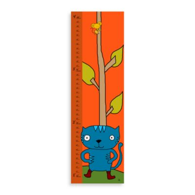 Green Leaf Art Cat & Mouse Growth Chart