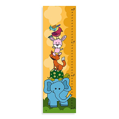 Green Leaf Art On The Top Growth Chart