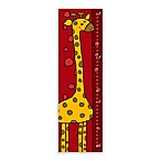 Green Leaf Art Giraffe on Red Growth Chart