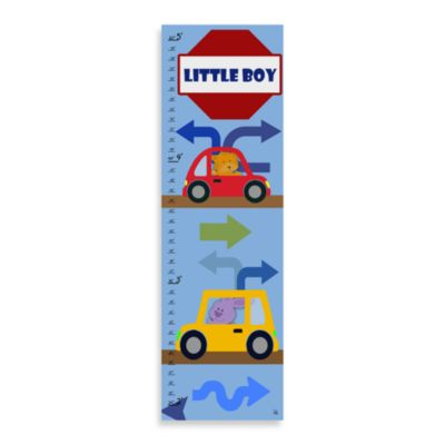 Green Leaf Art Little Boy Growth Chart