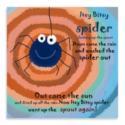 Green Leaf Art Itsy Spider Canvas Art