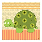 Green Leaf Art Baby Turtle Canvas Art