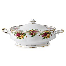 Royal Albert Old Country Rose Covered 50-Ounce Serving Bowl