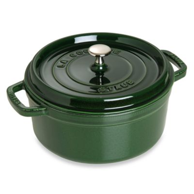 Staub 7 qt. Round Cocotte in Basil