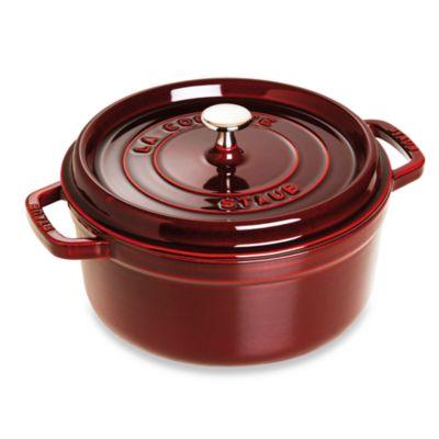Staub 9-Quart Round Cocotte in Dark Red