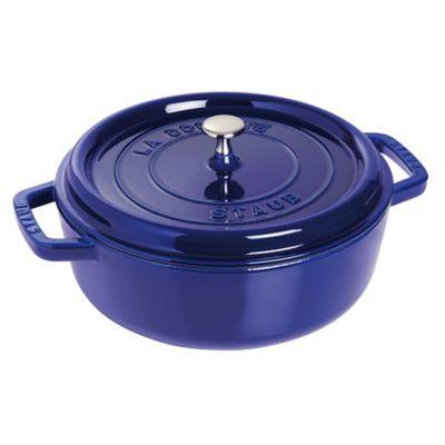 Staub 4-Quart Shallow Cocotte in Dark Blue