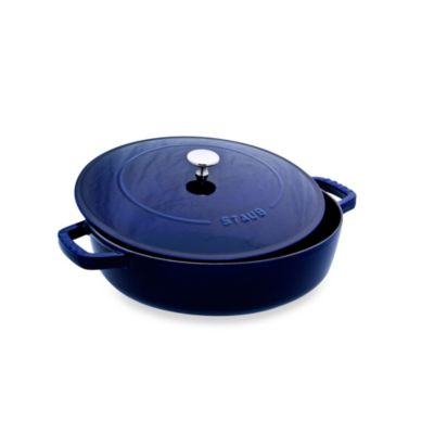 Staub 2.75-Quart Covered Saute Pan/Braiser in Dark Blue