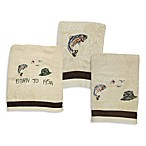 Born to Fish 11-Inch x 18-Inch Fingertip Towel