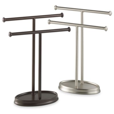 Umbra® Nickel Palm Double Hand Towel Tree