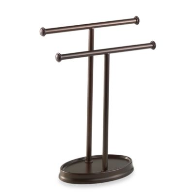 Umbra® Palm Double Hand Towel Tree in Oil Rubbed Bronze