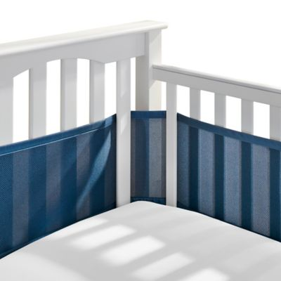 Breathable Mesh Crib Liner in Navy