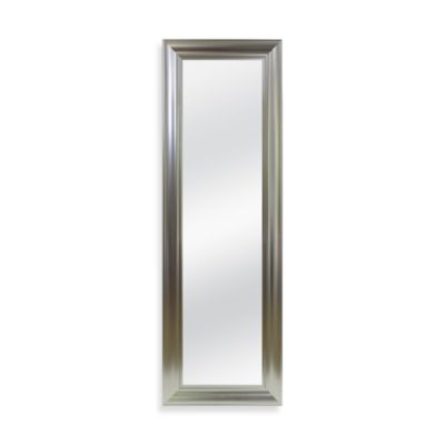 No-Tools Over-the-Door Mirror in Brushed Nickel