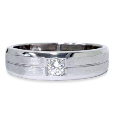 14K 17 Cttw Brushed Ring