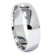10K White Gold Dome Wedding Band