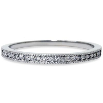 14K White Gold Vintage .12 cttw Diamond Ring
