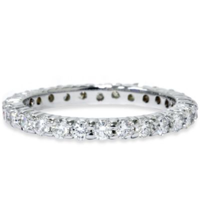 14K White Gold 1.00 cttw Diamond Eternity Ring