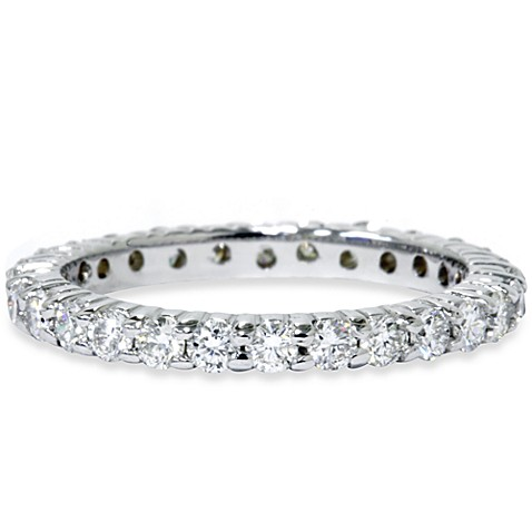 14K White Gold Diamond Size 9 Eternity Ring (1.00 cttw, SI1-SI2 Clarity, H-I Color)