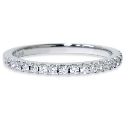 14K White Gold and Diamond Anniversary Ring (.30 cttw, SI1-SI2 Clarity, H-I Color) - Size 5